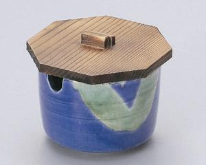 青釉オリベソース入(木ブタ付)