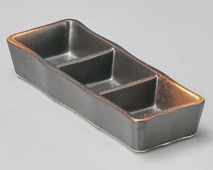 焼締三品皿(小)