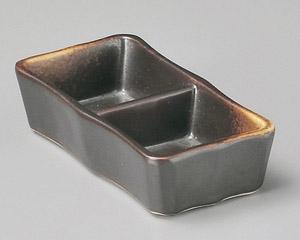 焼締二品皿(小)