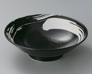 極刷毛黒8.0麺鉢