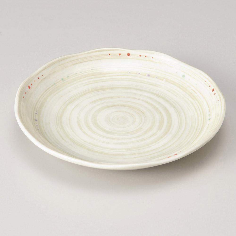 水玉粉引うず5.0皿 画像