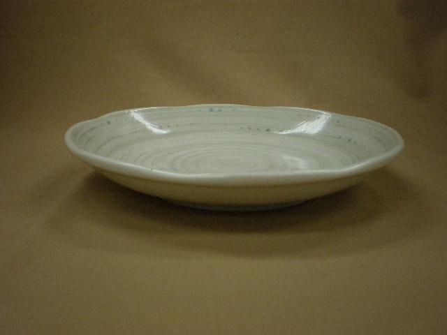 水玉粉引うず5.0皿 サムネイル3