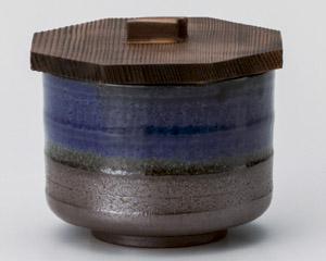 青釉吹飯器(蓋付)