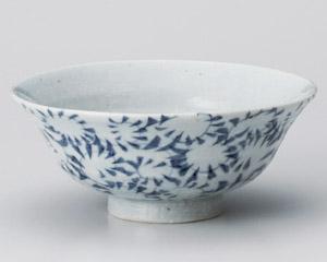手造り唐草平茶碗