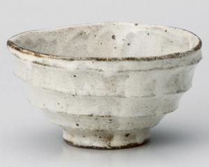 白唐津削り茶碗