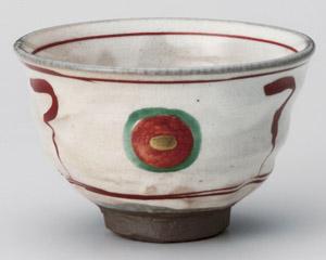 赤絵丸紋茶碗