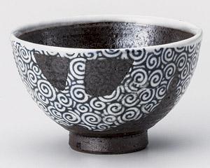 化粧流渦茶碗