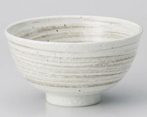 刷毛茶粉引丸碗