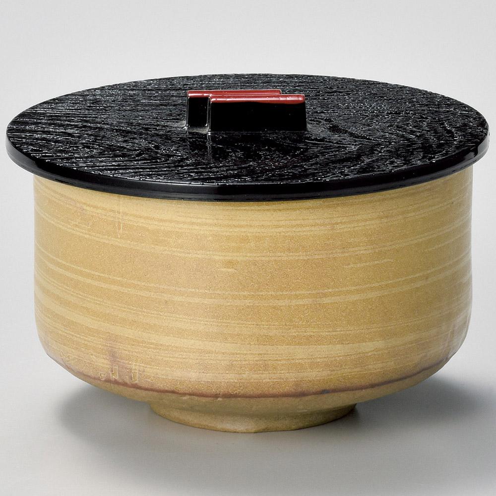 黄瀬戸飯器(プラスチック蓋付)