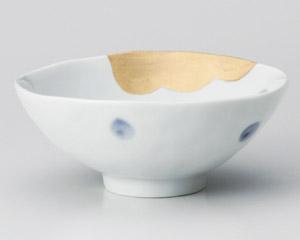 金波吾須水玉平茶碗(大)