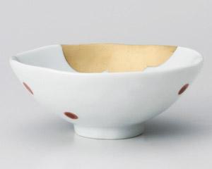 金波朱水玉平茶碗(小)