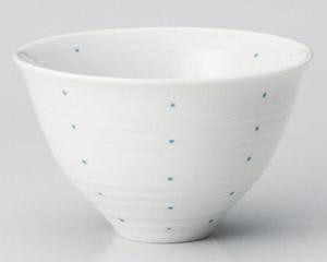 藍 ドット飯碗(大)