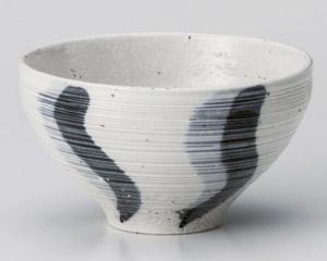 うるし流水(青)茶碗