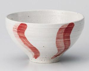 うるし流水(赤)茶碗