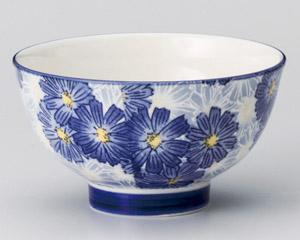 華々ブルー高台茶碗