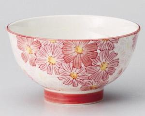 華々赤高台茶碗