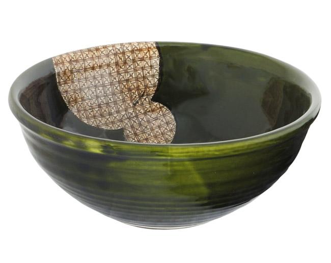 格子織部惣菜鉢 画像