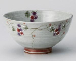 三彩ぶどう赤茶碗 画像