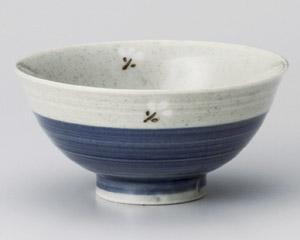 ブルー・白小花飯碗(小)・特価(在庫60限り)