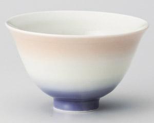 カラーグラデーションオレンジ茶碗 画像