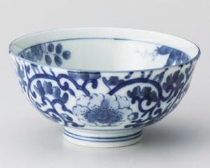 藍染唐草丸碗
