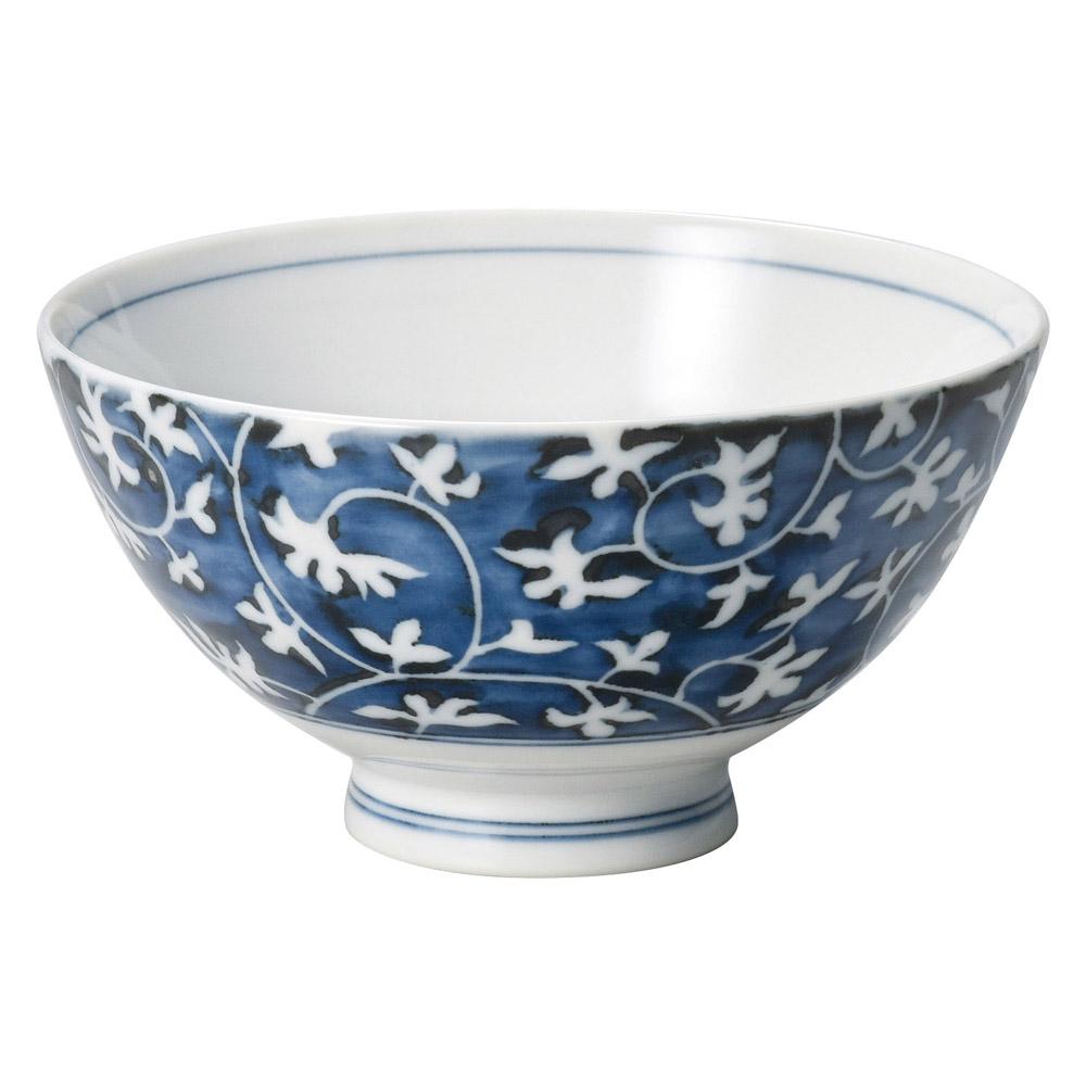 藍唐草飯碗(小)