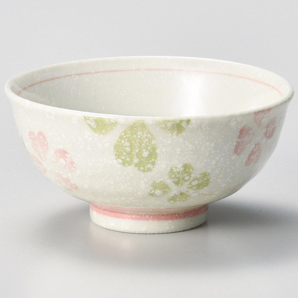 クローバー 茶碗 ピンク