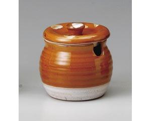赤釉(赤黄)2号口切カメ
