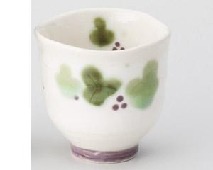 緑彩ぶどう湯呑(小)