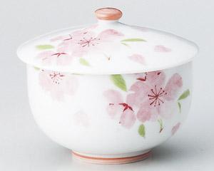 ピンク色花散し蓋付煎茶 画像1