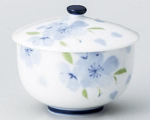 ブルー花散し蓋付煎茶 画像1