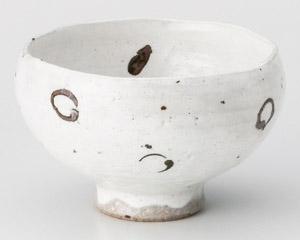 粉引錆丸紋波渕煎茶