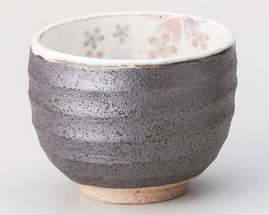 粉引舞桜一服碗(紫)
