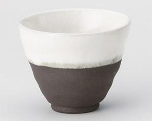 黒陶塗分小湯呑