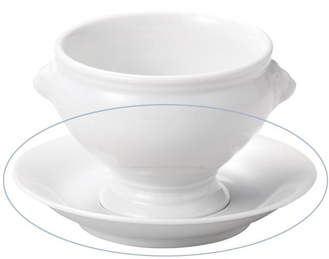 白ライオントリュフ兼用受皿のみ 画像