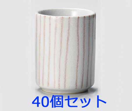 【40個セット】赤志野十草湯呑(小) 画像