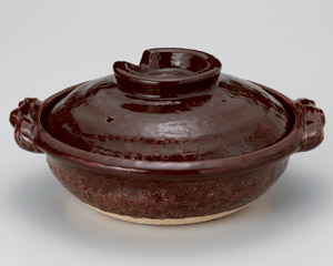 アメ釉9号鍋