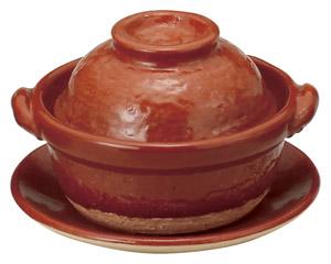 赤楽4.5号鍋(受皿付)