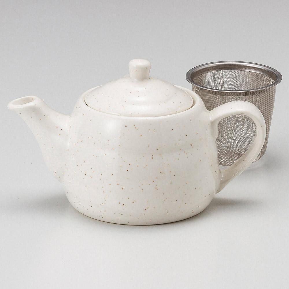 白唐津ポット(茶こし付)