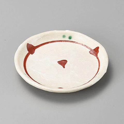 染付赤絵(土物)玉渕3.5皿 画像