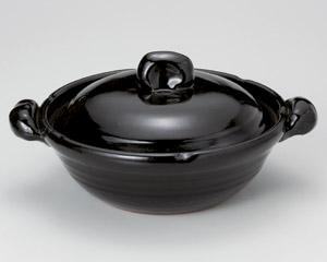 黒釉(手造)10号鍋