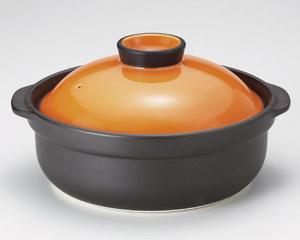 宴オレンジ/黒7号鍋