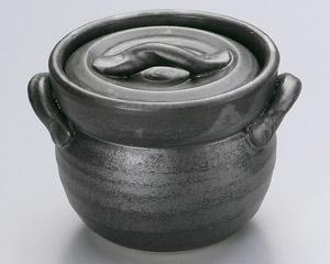 黒釉ご飯釜(2合炊)