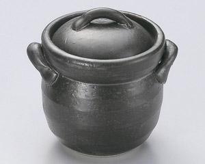 黒釉ミニご飯釜(0.5合炊)