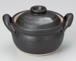 黒陶刷毛目4号多用深鍋