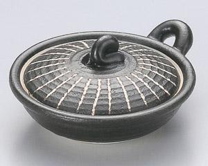 黒彫十草目玉焼き器