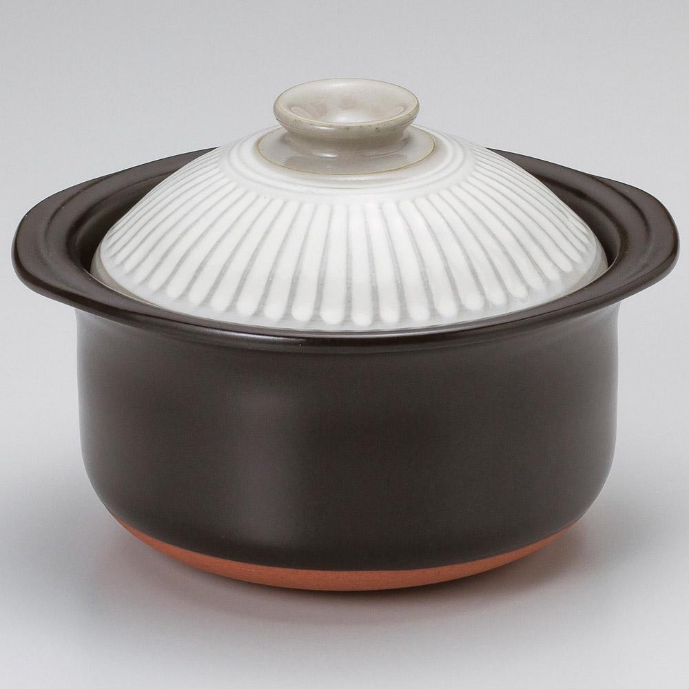 銀峯菊花粉引ご飯鍋3合炊(中蓋付)