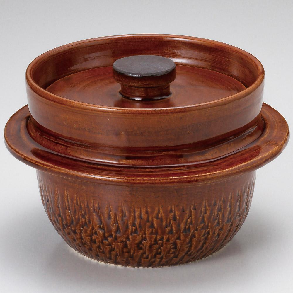 アメ釉手造ご飯釜