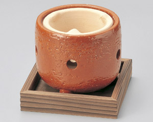 赤楽コンロ(敷板付)