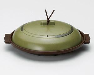丸陶板うぐいす18cm(アルミ)M10−555